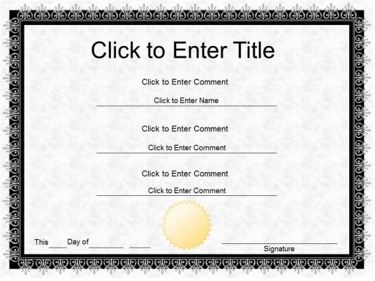 Employee Award Diploma Certificate Template Of Completion Completion PowerPoint For Kids