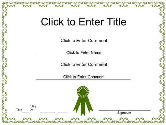 PowerPoint Certificate Templates – Employee Recognition Certificate Template