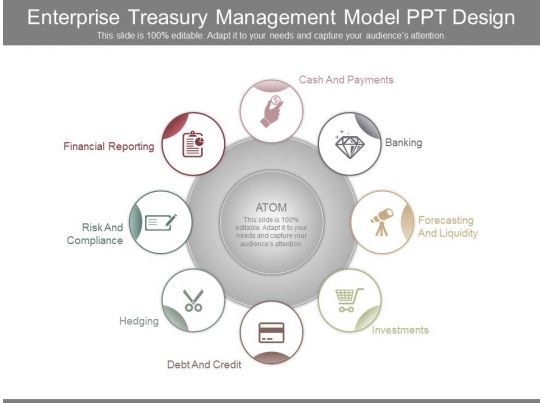 enterprise treasury management model ppt design