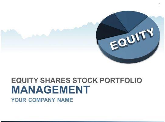 equity shares stock portfolio management powerpoint