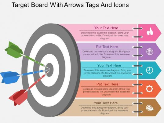 circular bulls eye process powerpoint presentation diagrams icons       style circular
