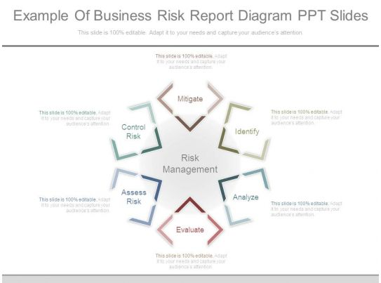 example of business risk report diagram ppt slides