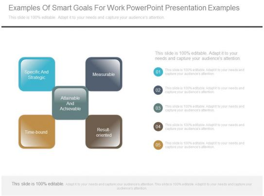examples of smart goals for work powerpoint presentation