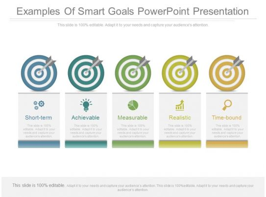 Examples Of Smart Goals Powerpoint Presentation