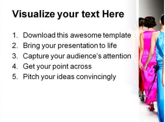 Fashion Show Beauty Powerpoint Template 1110 Powerpoint