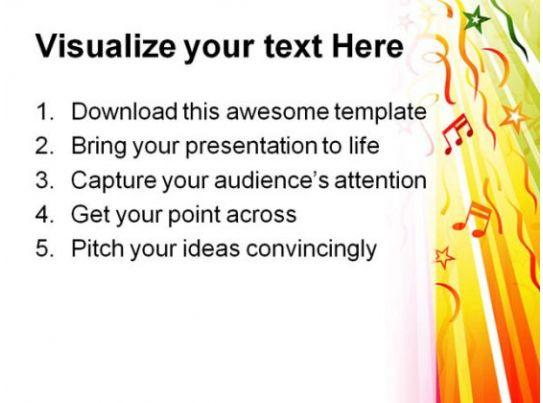 Festive Design Music Powerpoint Template 0610 Presentation