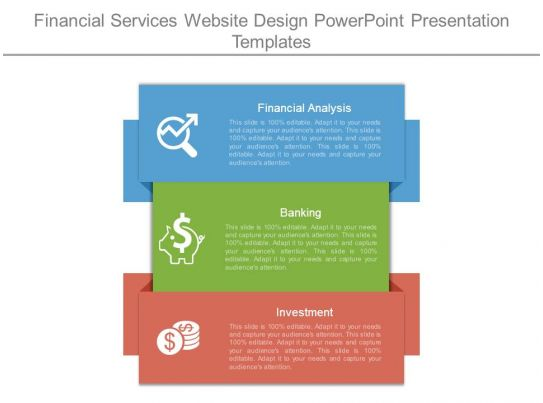 financial services website design powerpoint presentation templates. Black Bedroom Furniture Sets. Home Design Ideas