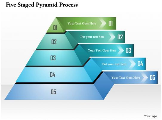 five staged pyramid process powerpoint templates