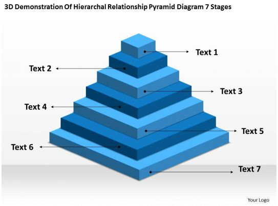 Flowchart For Business Of Hierarchal Relationship Pyramid Diagram 7