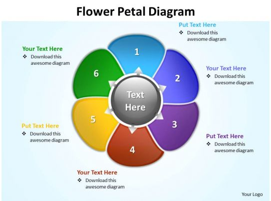 Flower petal diagram editable powerpoint slides templates for What is a template in powerpoint