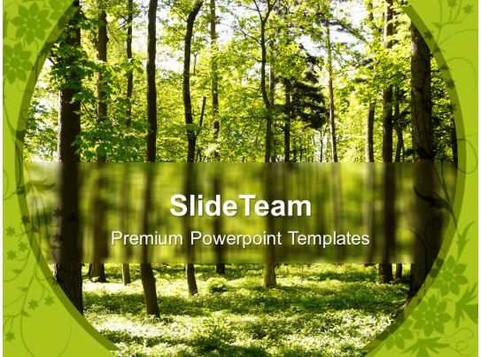 Forest Path Way Nature Powerpoint Templates Ppt Themes And