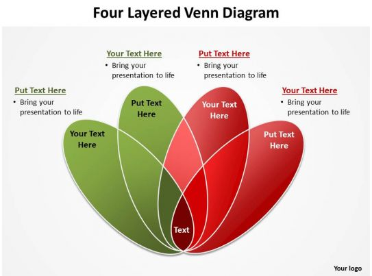 four layered venn diagram rose petals powerpoint diagram templates graphics 712 templates. Black Bedroom Furniture Sets. Home Design Ideas