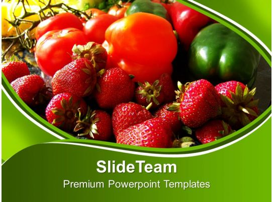 Fresh vegetables food powerpoint template 0810 powerpoint design fruits and veggies health powerpoint toneelgroepblik Choice Image