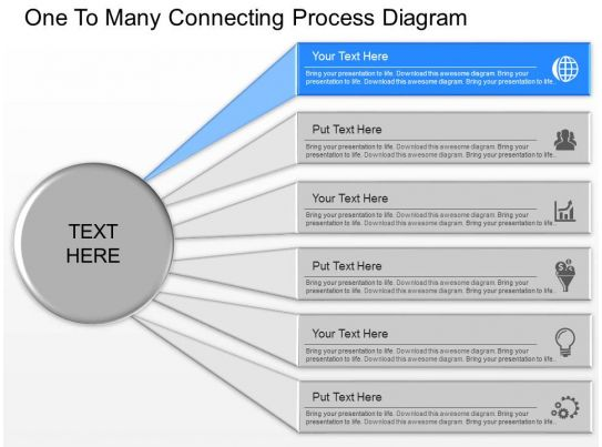 Gg One To Many Connecting Process Diagram Powerpoint