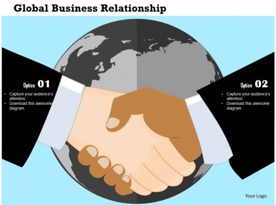 Global business relationship flat powerpoint design for Global design firm