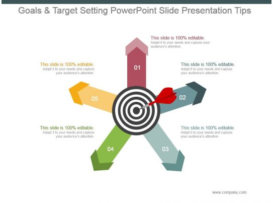 setting up a powerpoint template - goals and target setting powerpoint slide presentation
