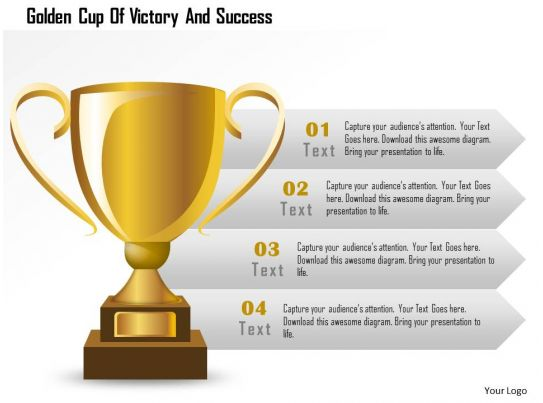 Golden cup of victory and success powerpoint template slide04 toneelgroepblik Images