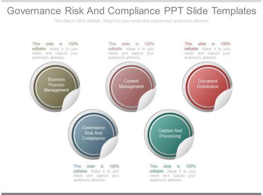 governance risk and compliance ppt slide templates. Black Bedroom Furniture Sets. Home Design Ideas
