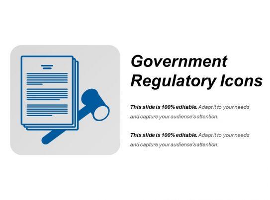 Government Regulatory Icons Example Ppt Presentation
