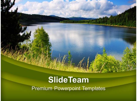 green natural environment beauty powerpoint templates ppt