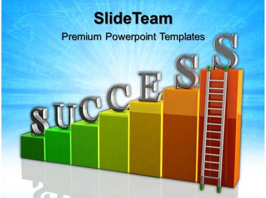 growth bar graphs maker powerpoint templates ladder success ppt