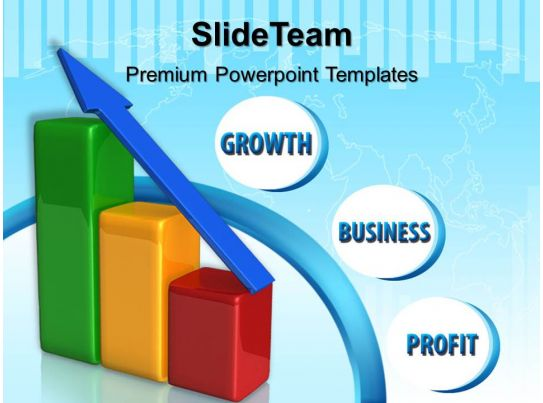 growth bar graphs maker powerpoint templates profit business ppt