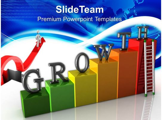 growth graphs in business powerpoint templates stairs