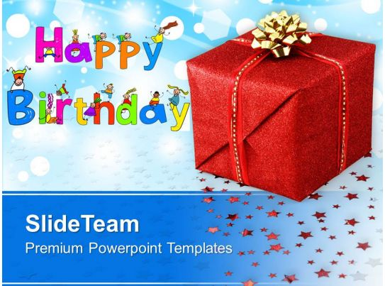Happy Birthday Gift Background Powerpoint Templates Ppt Themes And