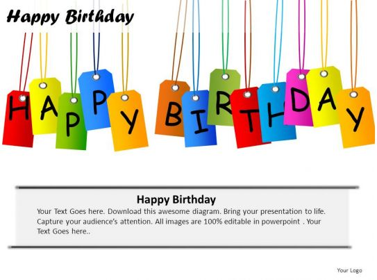 Awesome Business Slides showing Happy Birthday Powerpoint