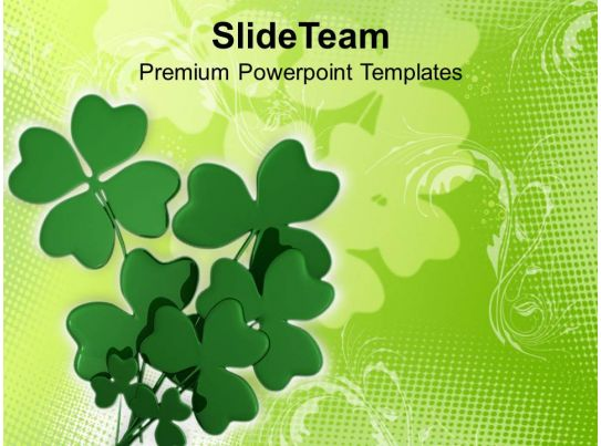 happy st patricks day shamrock with abstract background of
