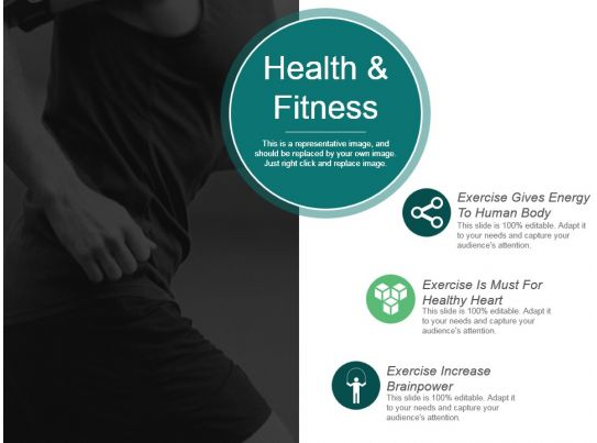 health and fitness ppt background graphics