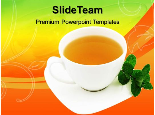 health powerpoint templates cup of tea graphic ppt slide