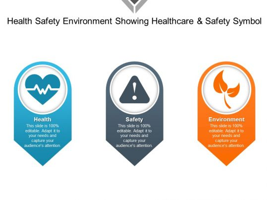 health and safety powerpoint templates - health safety environment showing healthcare and safety