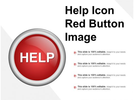 help icon red button image