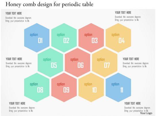 Honey comb design for periodic table flat powerpoint design for Table design in powerpoint