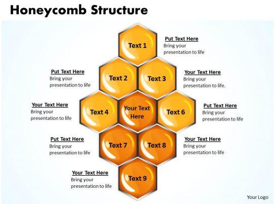 Honeycomb Structure Powerpoint Slides Presentation