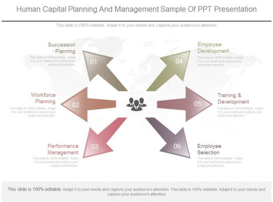 Human capital planning and management sample of ppt for Human capital planning template