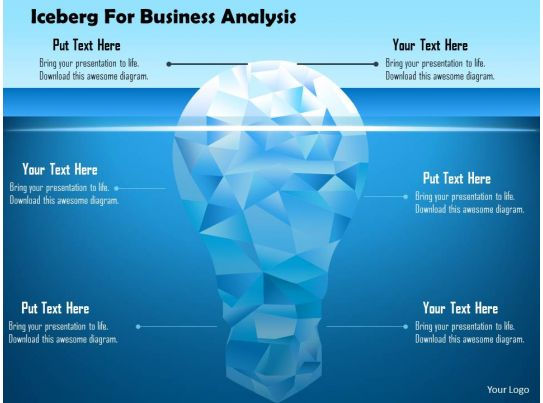 iceberg for business analysis powerpoint template