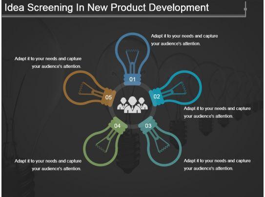 idea screening in new product development powerpoint slide