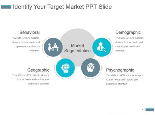 identify your target market ppt slide