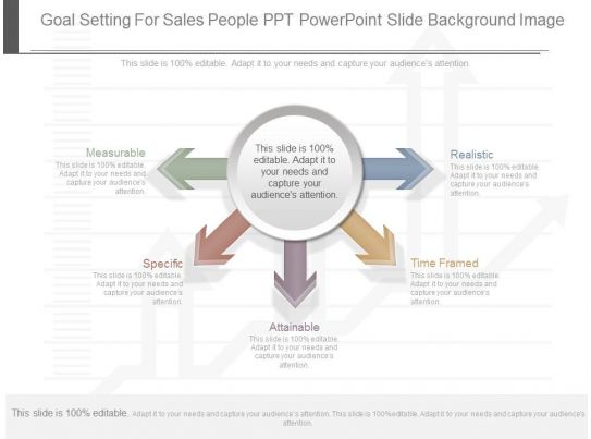 innovative goal setting for sales people ppt powerpoint slide background image