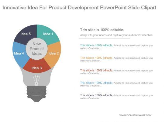 Innovative idea for product development powerpoint slide for Innovative product development companies