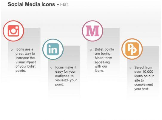 Instagram Linkedin Medium Pied Piper Ppt Icons Graphics