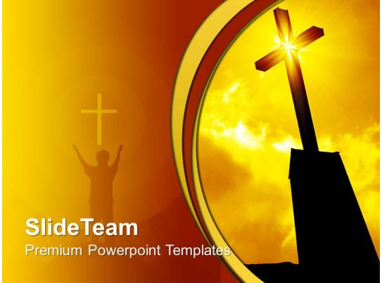 Jesus Christ Bible Powerpoint Templates Religious Cross