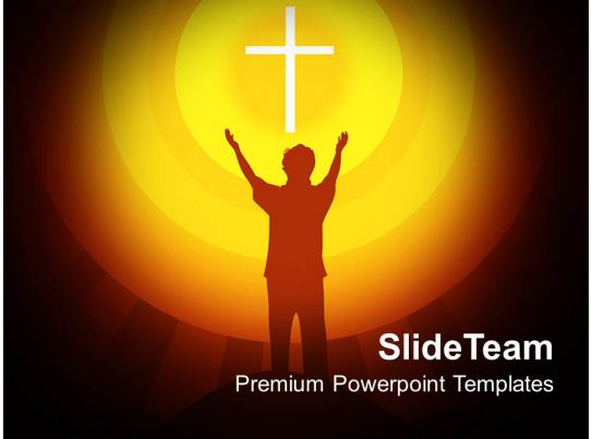 Jesus Christ Bible Powerpoint Templates Spirituality Religion