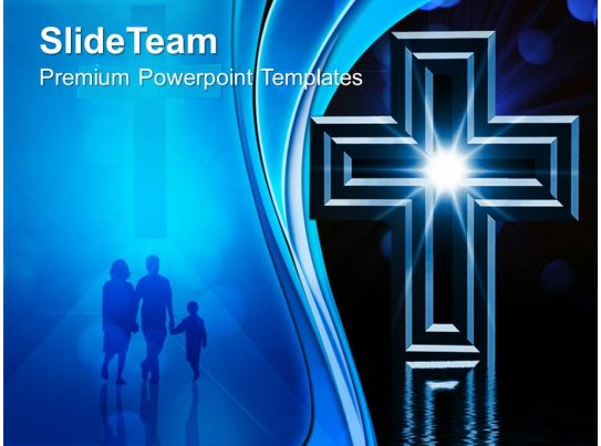 Jesus Christ God Powerpoint Templates Cross Christainity
