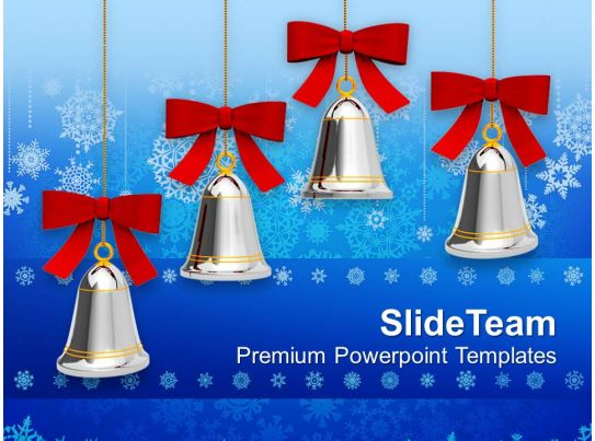 jingle bells on christmas powerpoint templates ppt backgrounds for