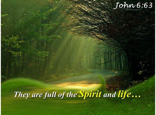 john 6 63 they are full of the spirit powerpoint church sermon