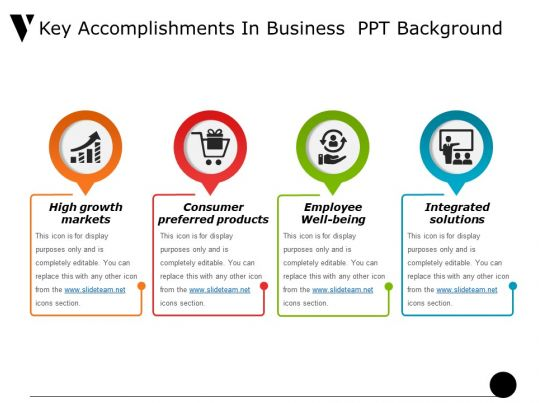 key accomplishments in business ppt background