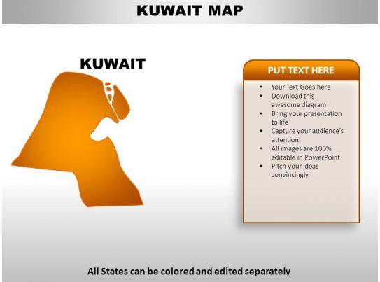 Kuwait Map Vector Kuwait Country Powerpoint Maps